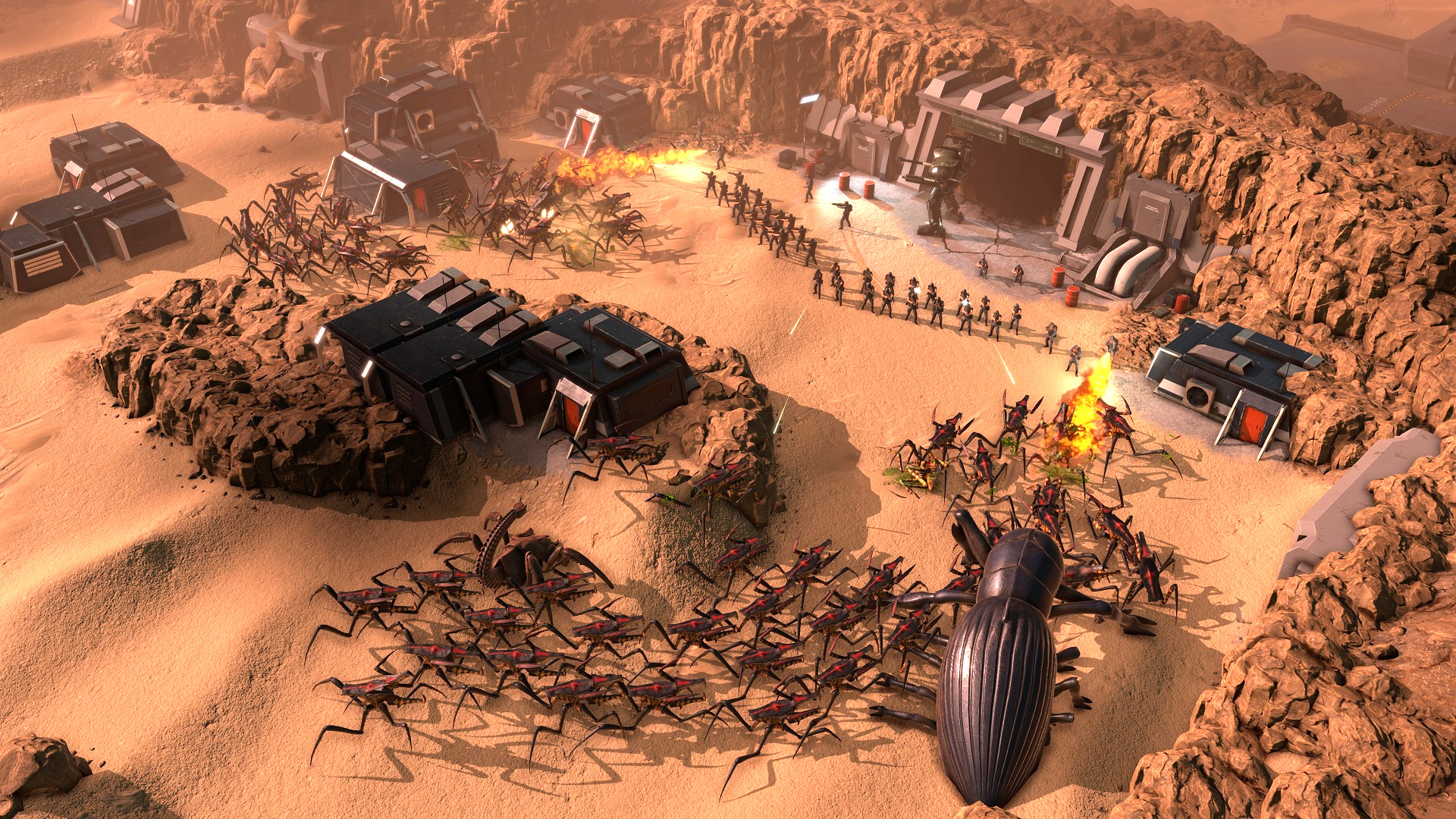 Upcoming tactical RTS Starship Troopers: Terran Command wants you to live forever