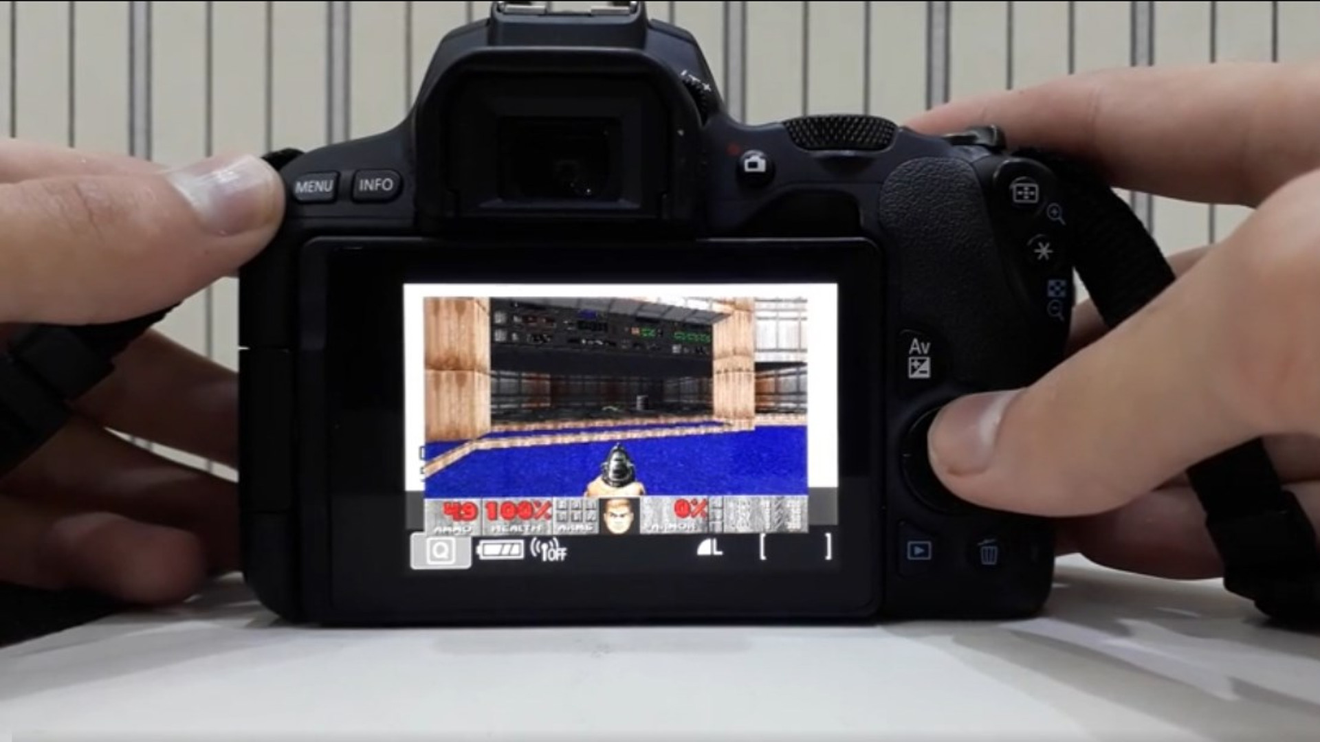 Here's Doom on a digital camera