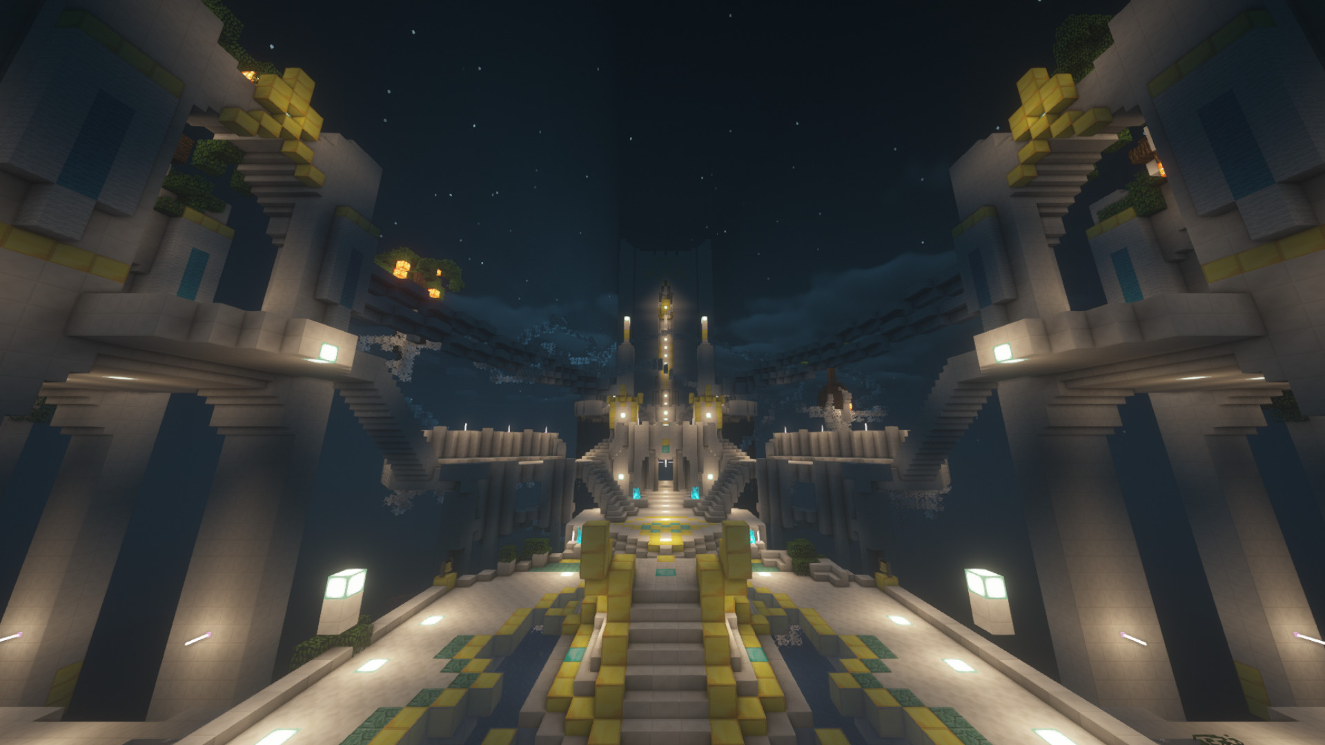 Minecraft player builds World of Warcraft's Elysian Hold