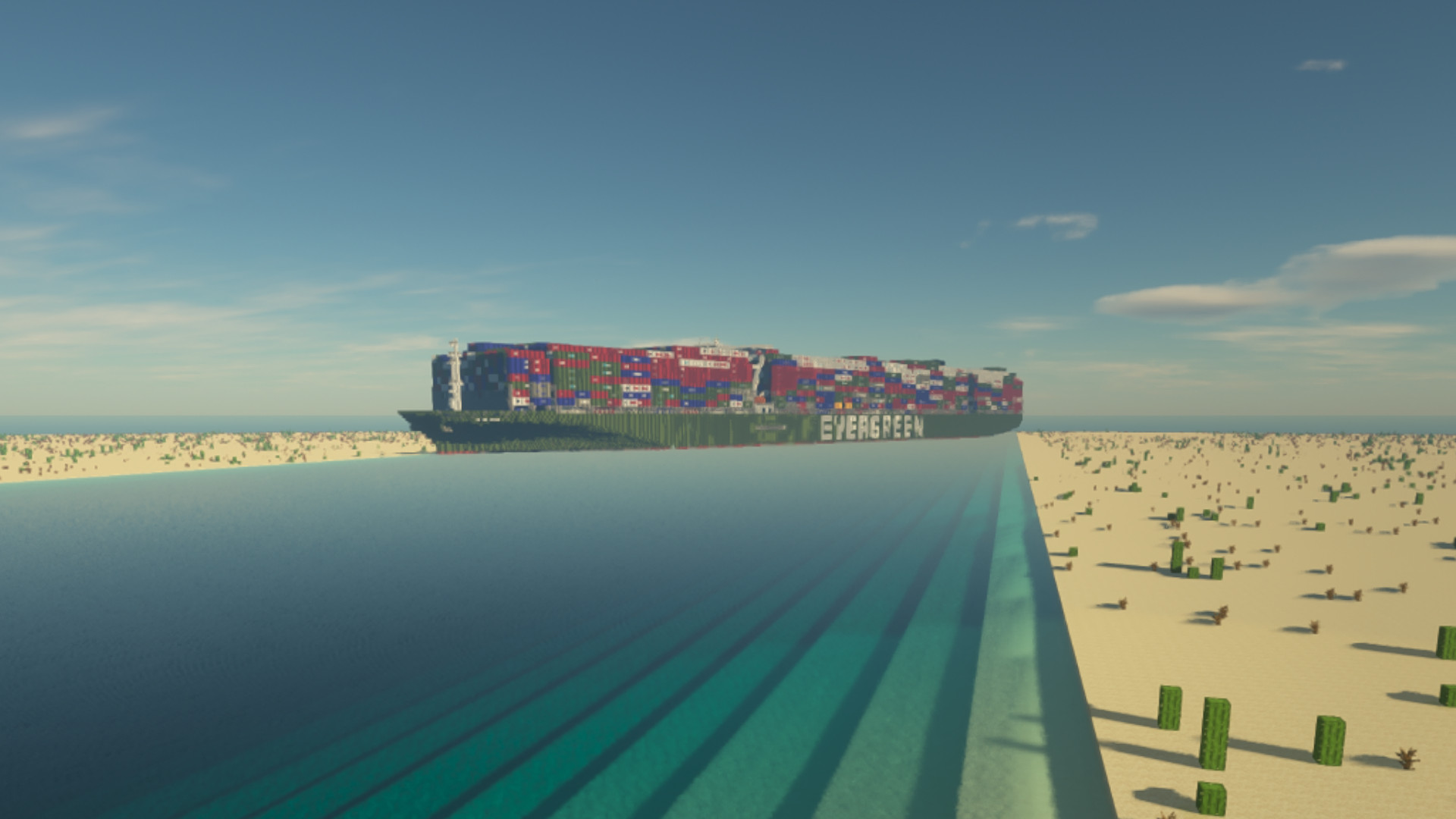 It took six days to get the Ever Given out of the Suez Canal, and 11 hours to build it in Minecraft