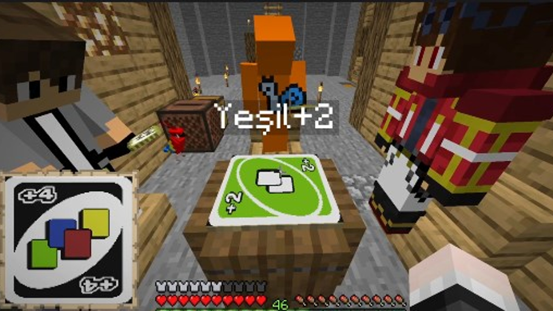 Minecraft player builds playable Uno