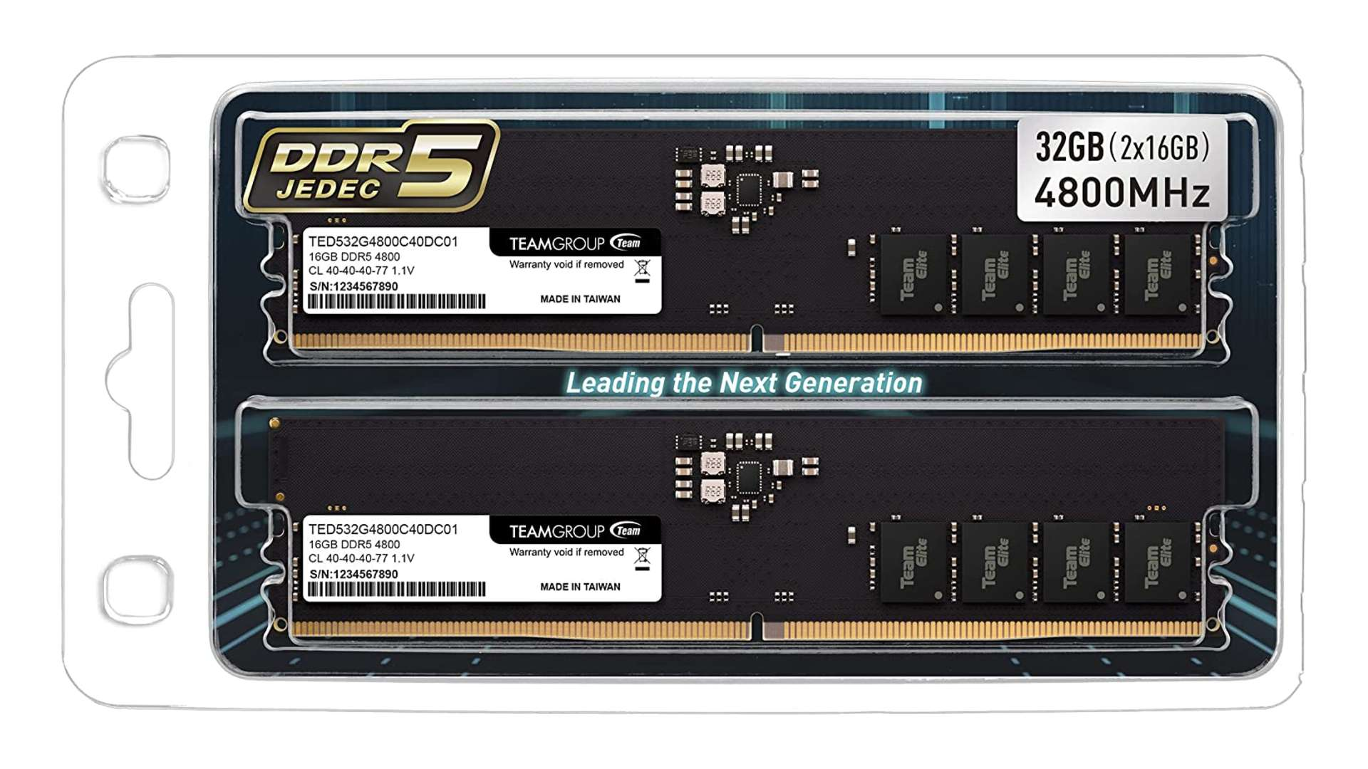 Amazon lists the first set of DDR5 RAM with no motherboard to plug it into