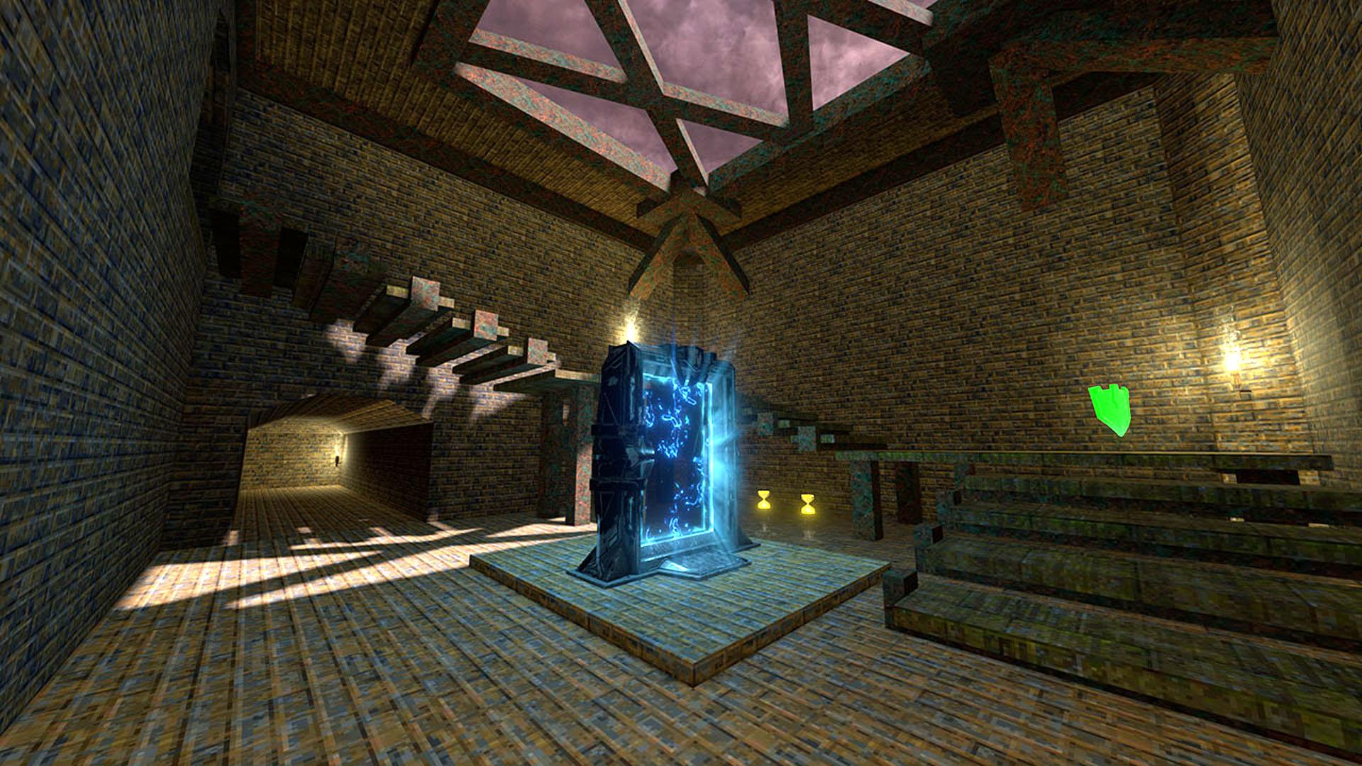 Quake Champions celebrates the series' 25th anniversary with a retro Quake 1 map
