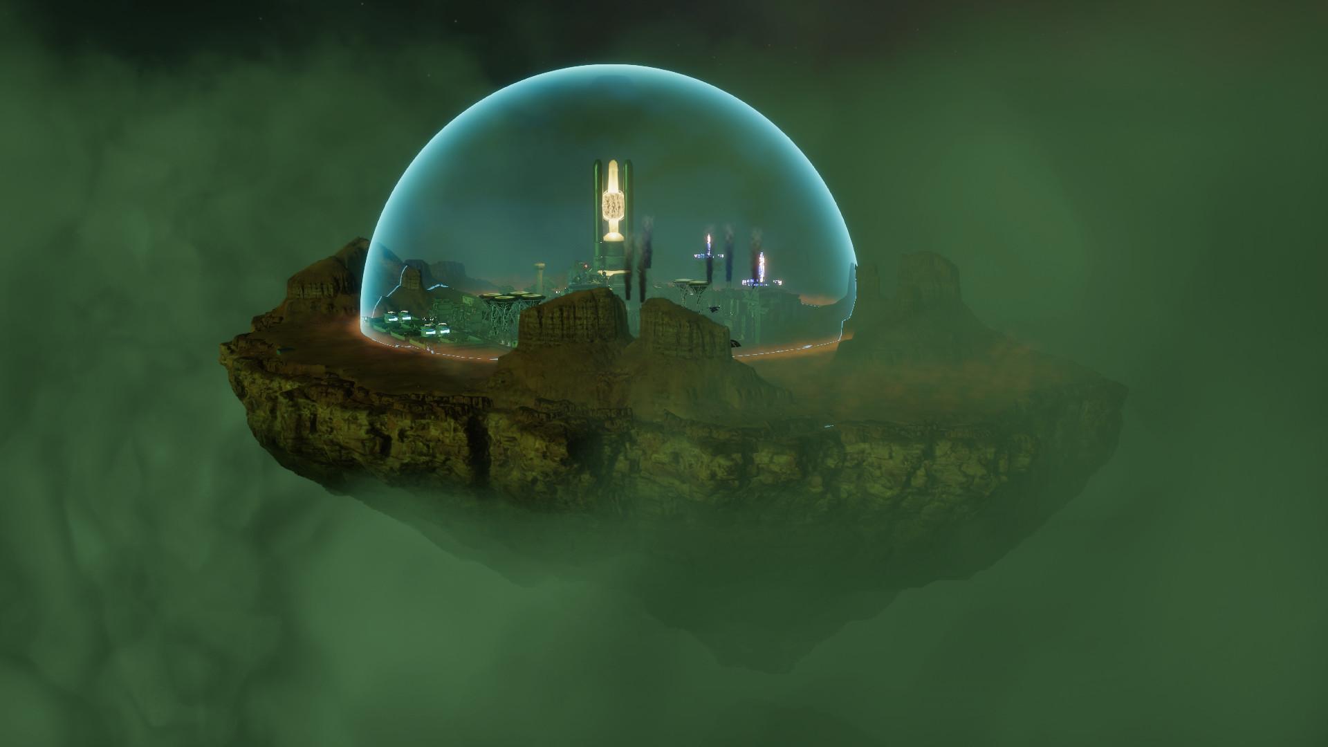 Sphere is a sci-fi city-builder set inside a floating bubble