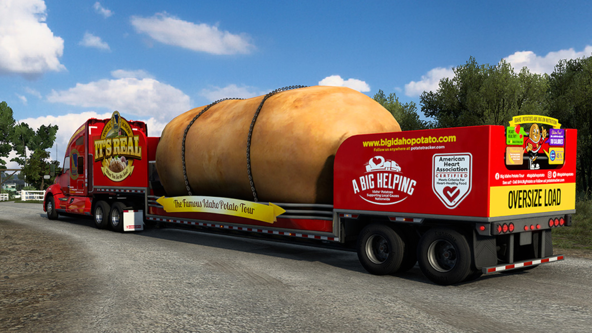The latest American Truck Simulator event is about hauling a giant potato