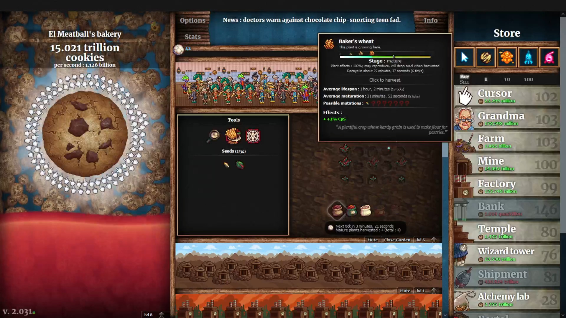 Cookie Clicker is currently ruining the lives of over 10,000 people on Steam